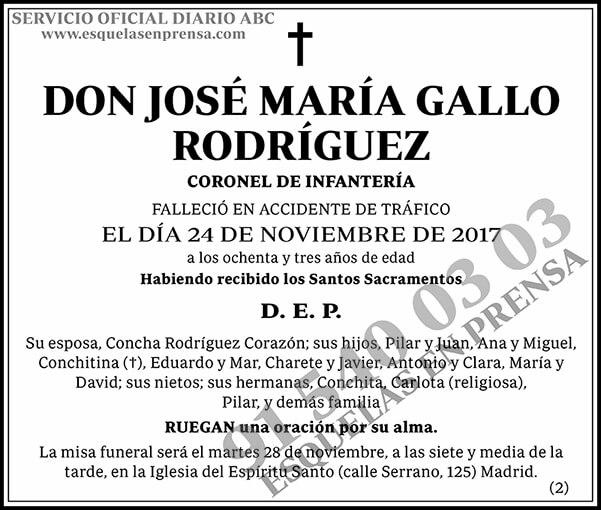 José María Gallo Rodríguez